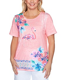 Petite Miami Beach Flamingo Top