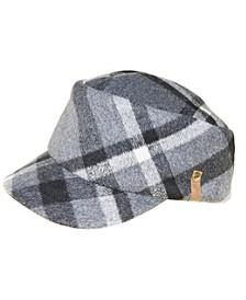 Wool Plaid Engineer Cap