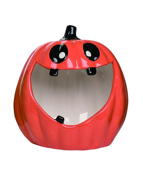 Trans Pac Dolomite Red Halloween Big Mouth Candy Bowl