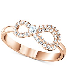 Crystal Infinity Symbol Ring