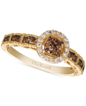 Chocolatier Chocolate Diamond & Vanilla Diamond Statement Ring (5/8 ct. t.w.) in 14k Gold