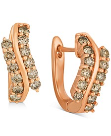 Champagne® Nude Diamond Swirl Drop Earrings (7/8 ct. t.w.) in 14k Rose Gold