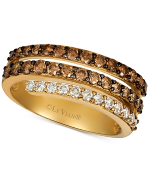 Creme Brulee Diamond Coil Statement Ring (1-1/6 ct. t.w.) in 14k Gold