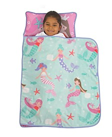 Mermaid Nap Mat with Pillow and Blanket