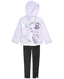 Hello Kitty Little Girls 3-Pc. Cosmic Kitty Jacket, T-Shirt & Leggings Set