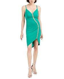 V-Neck Sleeveless Illusion Dress