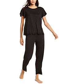 Lace-Trim Pajamas Set, Created for Macy's