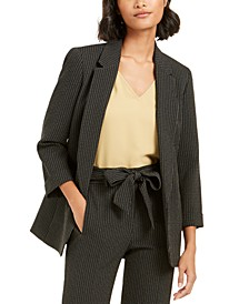 Pinstripe Open-Front Blazer, Created for Macy's