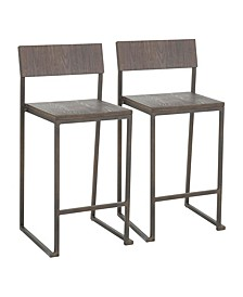 Fuji Counter Stool, Set of 2