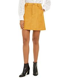 Bahati Faux-Suede Mini Skirt