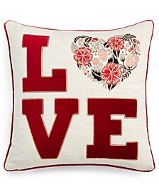 "Love Big Letters 20"" x 20"" Decorative Pillow"