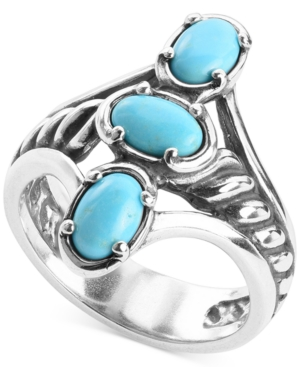Turquoise Statement Ring in Sterling Silver