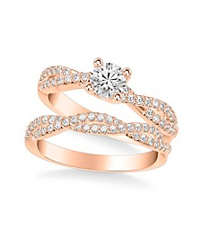Diamond Twist Bridal Set (7/8 ct. t.w.) in 14k White, Yellow or Rose Gold