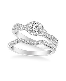 Diamond Twist Bridal Set (3/4 ct. t.w.) in 14k White, Yellow or Rose Gold