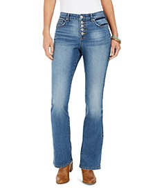 Button-Fly Boot-Cut Jeans, Created For Macy's