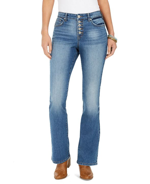 Style & Co Button-Fly Boot-Cut Jeans, Created for Macy's