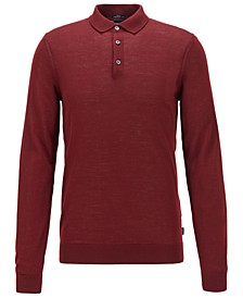 BOSS Men's Lumberto Merino-Wool Sweater