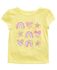 Little Girls Rainbows, Hearts & Stars T-Shirt, Created For Macy's