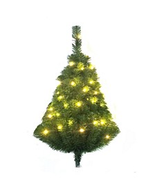 28-Inch Pre-Lit Norway Pine LED Wall Tree