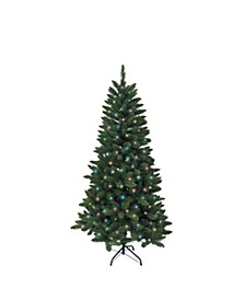 4.5-Foot Pre-Lit Green Pine Tree