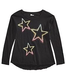 Big Girls Neon Star T-Shirt, Created For Macy's