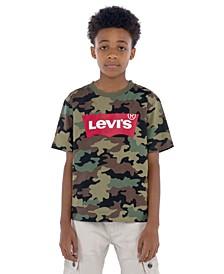 Toddler Boys Camouflage Batwing Logo T-Shirt