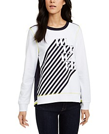 Logo Graphic Swing-Back Sweatshirt