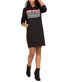 Logo-Print Hoodie Sweatshirt Dress