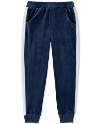 Big Girls Velour Side-Stripe Jogger Pants