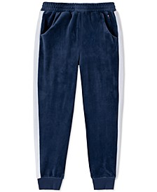 Toddler Girls Velour Side-Stripe Jogger Pants