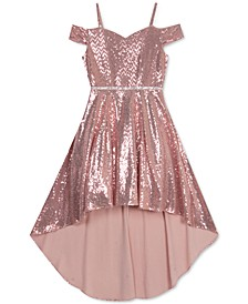 Big Girls High-Low Glitter Dress