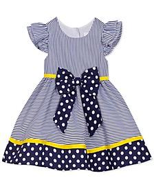 Toddler Girls Polka Dots & Stripes Dress