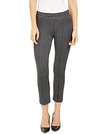 Cropped Checked Pants, Regular & Petite