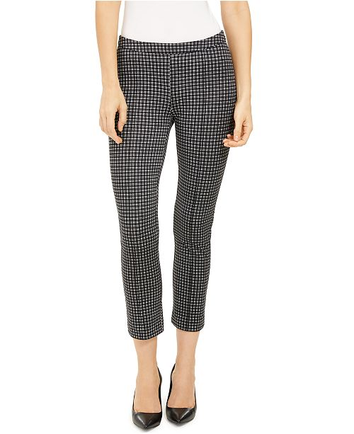 Michael Kors Cropped Checked Pants