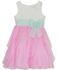 Little Girls Glitter Cascade Dress