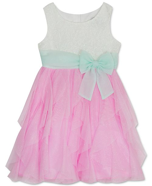 Rare Editions Little Girls Glitter Cascade Dress