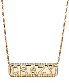 Diamond (1/3 ct. t.w.) ID Necklace in 14K Yellow Gold