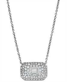 Diamond (3/4 ct. t.w.) Ice Cube Pendant in 14K White Gold
