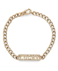 Diamond (1/3 ct. t.w.) ID Cuban Link Bracelet in 14K Yellow Gold