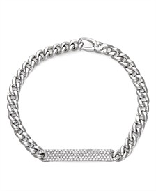 Diamond (7/8 ct. t.w.) ID Bracelet in 14K White Gold