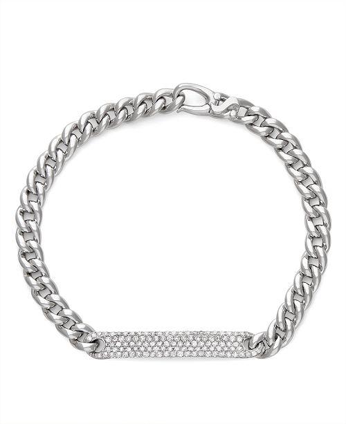 Serena Williams Jewelry Diamond (7/8 ct. t.w.) ID Bracelet in 14K White Gold