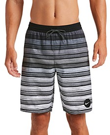 "Men's Stripe Breaker Water-Repellent Ombré 9"" Swim Trunks"