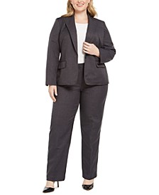 Plus Size Striped Pantsuit