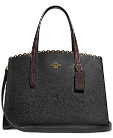 Charlie Scalloped Leather Carryall