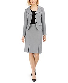 Jacquard Three-Button Skirt Suit