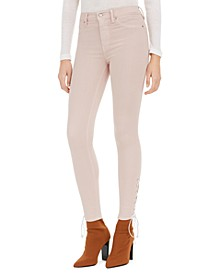 Barbara Lace-Up Super-Skinny Jeans