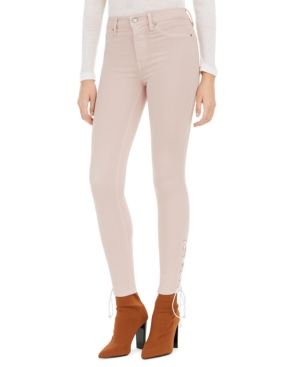 Hudson Jeans Barbara Lace-Up Super-Skinny Jeans