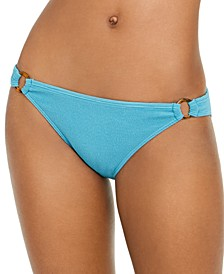 Juniors' Casual Mood Textured Ring Bikini Bottoms