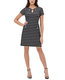 Striped Grommet Dress