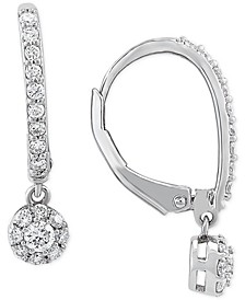 Lab-Created Diamond Dangle Drop Earrings (1/2 ct. t.w.) in Sterling Silver